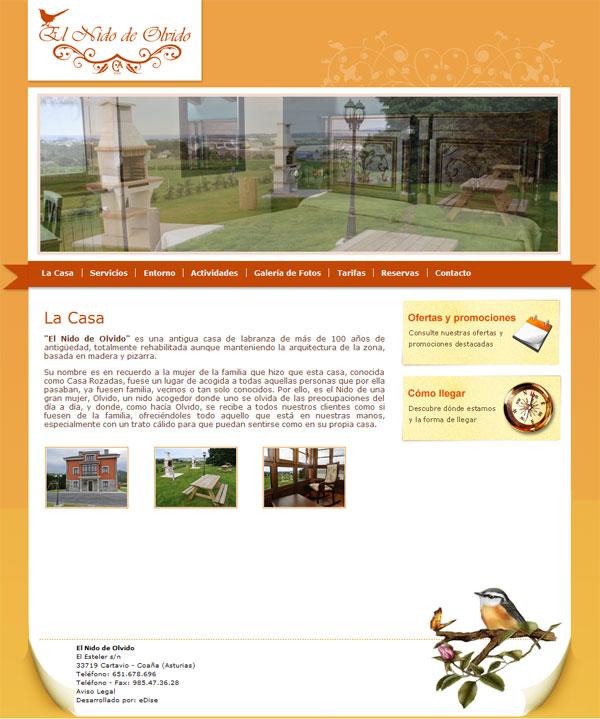 El Nido de Olvido - Coaña - Asturias - Edise Soluciones: diseño y desarrollo de páginas Web